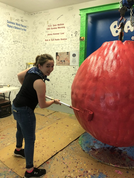 me painting the large ball