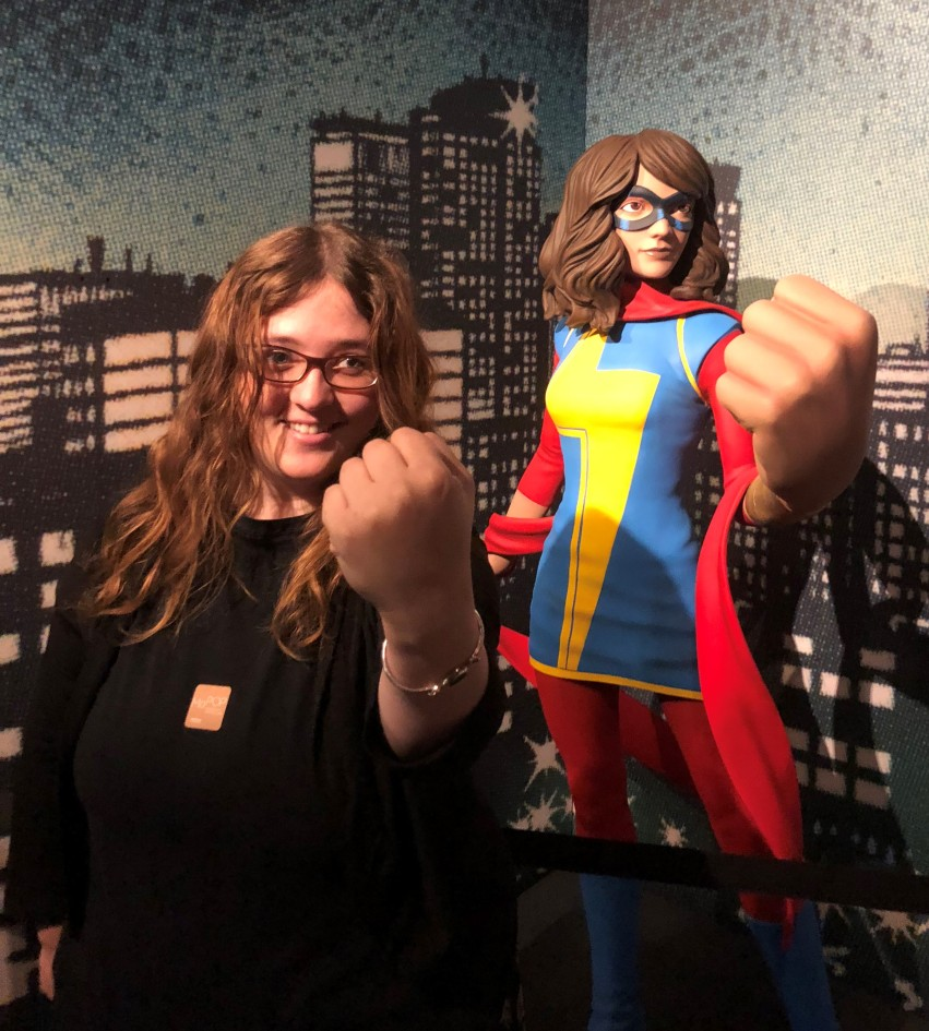 sarah with super female